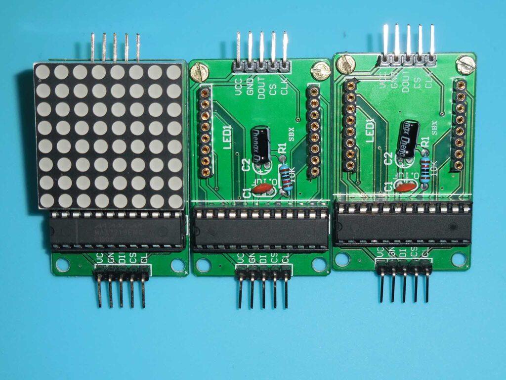 Figura 8: Recolocação dos displays matriz de LEDs
