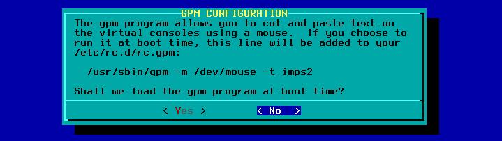 Figura 39: Configuração de operação do mouse