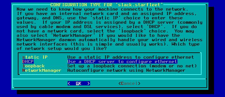 Figura 43: Tipo de configuração de IP da interface