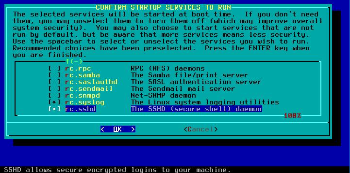 Figura 46: Iniciação de serviços no boot