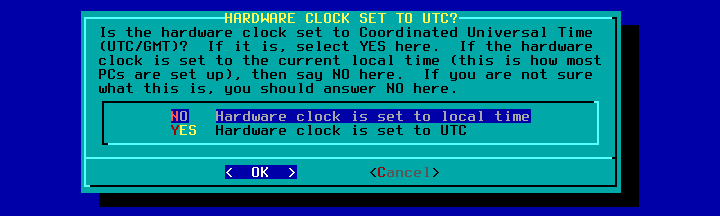 Figura 48: Ajuste do relógio calendário