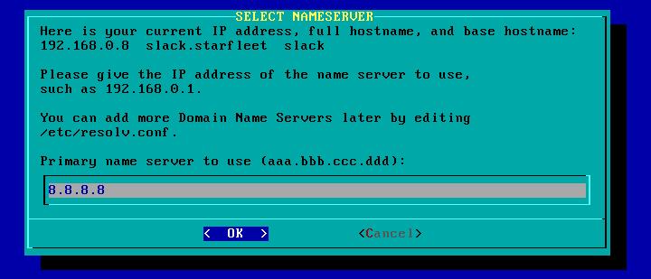 Figura 75: Definição de servidor de nomes