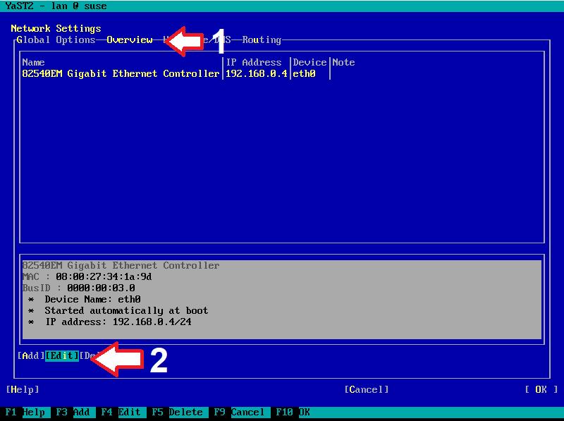 Figura 13: Sequência de configuração de IP estático (c)