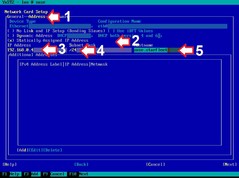 Figura 13: Sequência de configuração de IP estático (d)