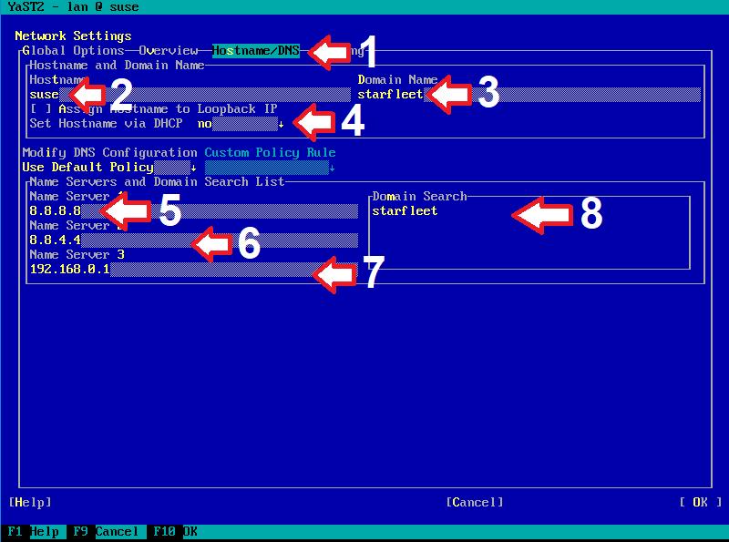 Figura 13: Sequência de configuração de IP estático (e)