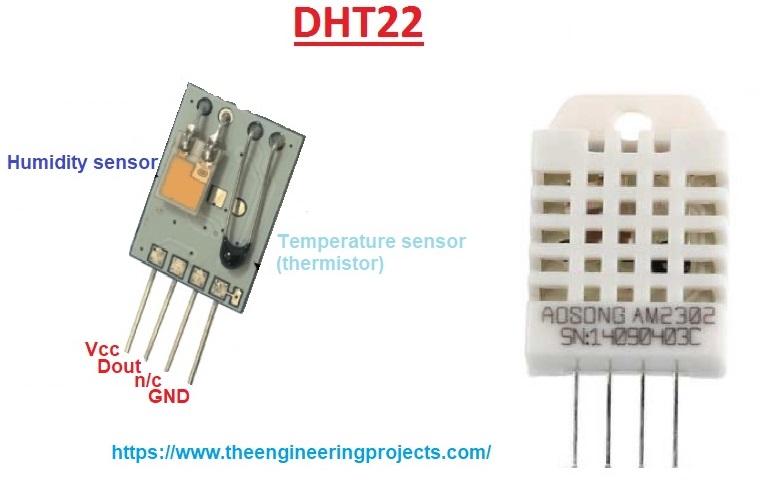 módumo sensor de umidade DHT22