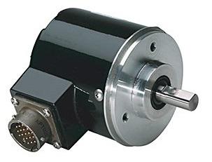 Fotografia de um codificador rotativo absoluto com transimssão paralela de sinais