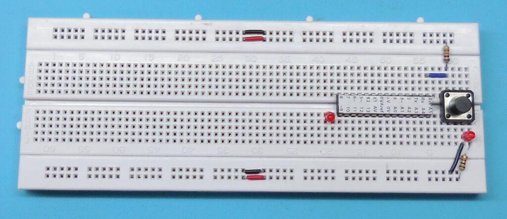 Ligações do circuito de reset manual